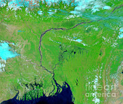 River Flooding Photo Posters - Bangladesh Poster by Nasa