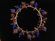 Bangle Jewelry - Bangle royal blue cloisonne by Jan Durand
