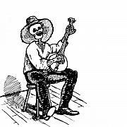 Culture Drawings - Banjo by Karl Addison