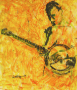 Drawing Painting Originals - Banjo Player by Richard Wynne