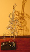 Musicians Sculpture Originals - Banjo Player by Simon Berson