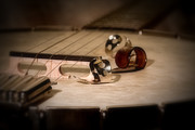 Musician Photo Prints - Banjo Print by Tom Mc Nemar