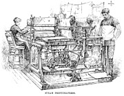 Bureau Prints - Bank Note Printing Press Print by Granger