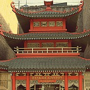 Chinese American Drawings - Bank of Canton in Chinatown San Francisco by Peter Art Prints Posters Gallery