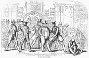 Bank Panic Prints - Bank Panic, 1857 Print by Granger