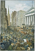 1884 Metal Prints - Bank Panic, 1884 Metal Print by Granger
