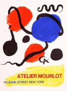 Mourlot Paintings - Bank Street by Alexander Calder