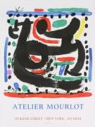 Mourlot Paintings - Bank Street by Jean Miro