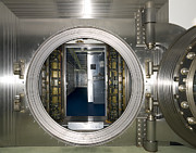 Entrance Door Framed Prints - Bank Vault Interior Framed Print by Adam Crowley