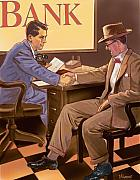 Norman Rockwell Framed Prints - Banker Framed Print by Valerian Ruppert