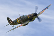 Spitfire Photos - Banking Spitfire by Tim Croton