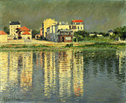 Reflection Paintings - Banks of the Seine at Argenteuil by Gustave Caillebotte