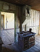Miners Ghost Prints - Bannack Ghost Town Kitchen Stove 2 Print by Daniel Hagerman