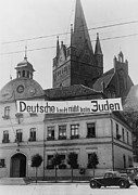 Fascism Framed Prints - Banner Reading Deutsche Kauft Nich Beim Framed Print by Everett