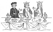 13th Century Photos - BANQUET, 13th CENTURY by Granger