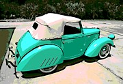 Hand Crafted Art - Bantam Roadster by George Pedro