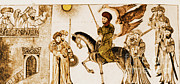 Beheading Posters - Banu Qurayza Surrendering To Muhammad Poster by Photo Researchers