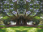 Praying Hands Digital Art Prints - Banyan Chapel Print by Mike Darrah