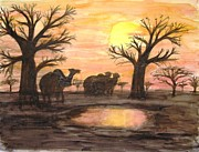 Baobab Paintings - Baobab by Jutta B