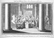 18th Century Photos - BAPTISM, 18th CENTURY by Granger