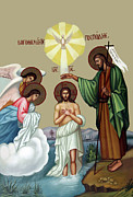 Orthodox Prints - Baptism Print by Munir Alawi