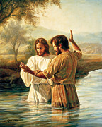 River Jordan Painting Posters - Baptism of Christ Poster by Greg Olsen