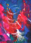 Prophetic Art Painting Originals - Baptism of Fire by Denise Warsalla