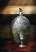 Honk Prints - Bar - The Flask and the Glass Print by Mike Savad