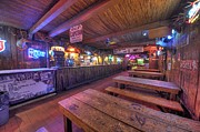 Beer Framed Prints - Bar at the Dixie Chicken Framed Print by David Morefield