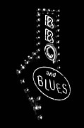 Uptown Posters - Bar B Que and Blues Poster by Susan Stone