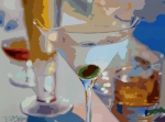 Nostalgia Paintings - Bar Drinks by David Lloyd Glover