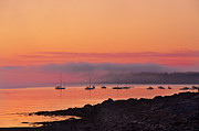 Atlantic Ocean Metal Prints - Bar Harbor Dawn Metal Print by Steve Gadomski