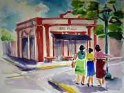 Puerto Rico Paintings - Bar Plaza by Barbara Richert