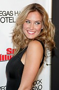Sports Illustrated Framed Prints - Bar Refaeli At Arrivals For Club Si Framed Print by Everett
