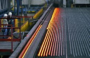 Molten Metal Framed Prints - Bar-rolling Mill Processing Molten Metal Framed Print by Ria Novosti