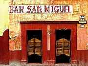 San Miguel De Allende Framed Prints - Bar San Miguel Framed Print by Olden Mexico