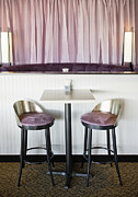 Empty Chairs Prints - Bar Table and Chairs Print by Andersen Ross