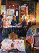 Food And Beverage Painting Originals - Bar Talk by Gertrude Palmer