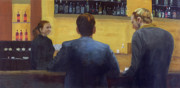 Regulars Paintings - Bar Talk by Peter Worsley