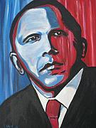 Barack Obama Painting Prints - Barack Print by Colin O neill