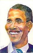 President Paintings - Barack Commander and Chief by Marsden Burnell
