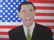 Barack Obama Painting Posters - Barack O Bama Poster by Eamon Reilly