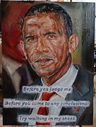 Romney Paintings - Barack Obama by Alex Krasky
