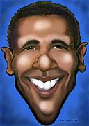 Barack Obama Metal Prints - Barack Obama Metal Print by Kevin Middleton