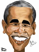 Barack Obama Metal Prints - Barack Obama Metal Print by Mark Baines