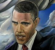 Barack Obama Painting Prints - Barack Print by Reggie Duffie