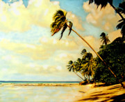 West Indies Digital Art Prints - Barbados West Coast Print by Ian  MacDonald