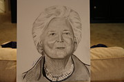 Vellum Prints - Barbara Bush Print by Shawn Brooks