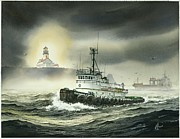 Tugboat Prints - Barbara Foss Print by James Williamson