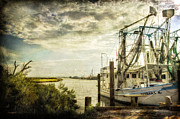 Shrimp Boat Prints - Barbara K Print by Joan McCool